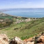 Panorama Arbel view over Sea of Galilee